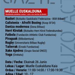 Eroski Fundazioaren Elikadura Eskolak Bilbao Gazte Auzo Active programan parte hartuko du